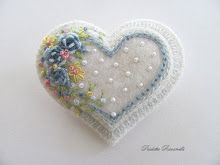 layered embroidery heart