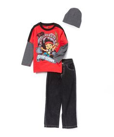 Look what I found on #zulily! Red Jake & The Never Land Pirates Layered Tee Set - Toddler #zulilyfinds
