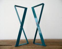 28 x 20 Flat Steel Table Leg Height 26 To 32 Set2 by Balasagun