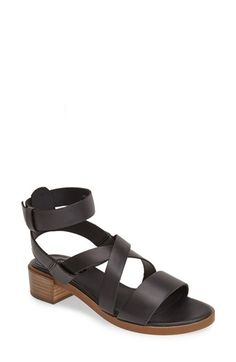 Free shipping and returns on Topshop 'Florentine Strap' Leather Ankle Strap Sandal (Women) at Nordstrom.com. This sleek leather sandal boasts a flattering ankle strap with a hidden buckle closure, stacked block heel and crisscrossed straps for a look that's streamlined and modern.