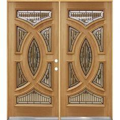 Baseball Mahogany Wood Entry Double Door Right Hand Doors Interior, Wood Doors, Wooden Glass Door, Wood Entry Doors, Door Glass Design, Installing Exterior Door, Wooden Door Design, Exterior Doors
