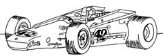 Race Car Number 42 Coloring Page - Race Car car coloring pages