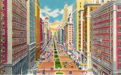 vintage postcard - NYC