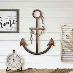 The Rustic Navy Anchor Nautical decor is designed to be a rustic accent for the perfect beach themed bedroom, house, or bathroom. With coastal living in mind, we sought to design and hand make a piece of wall decor that reminds you of a beach getaway.