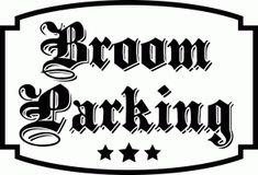 Silhouette Online Store - View Design #49836: 'broom parking' halloween vinyl saying