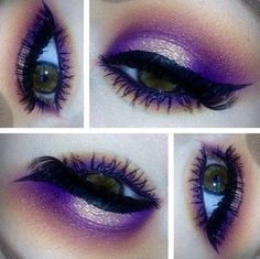 purple shimmer smokey eyes <3