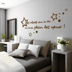 Sticker Citation Des rêves plein la tête