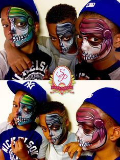 70 Kid's Face Painting Ideas for Halloween to Turn Them into Adorable Monsters Halloween Makeup For Kids, Amazing Halloween Makeup, Halloween Make Up, Halloween 2018, Halloween Costumes, Face Painting Designs, Body Painting, New Years Eve Makeup, Cat Makeup