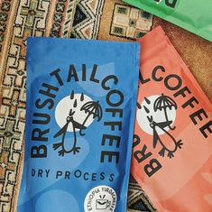 """Ethan Barnowsky (@ethanbarnowsky) posted on Instagram: """"New @brushtail.coffee bags and merch coming in pipin hot!! I had the pleasure of creating the logo and brand identity for brushtail over…"""" • Mar 4, 2021 at 12:08am UTC Graphic Design Branding, Label Design, Package Design, Print Design, Cool Packaging, Coffee Packaging, Coffee Branding, Industrial Packaging, Coffee Bags"""