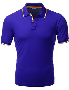 4248da39748 Xpril Polo Short Sleeve T-Shirts Cobalt Size XS at Amazon Men s Clothing  store