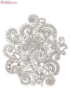 Ideas for garden flower drawing adult coloring Doodle Coloring, Mandala Coloring, Free Coloring, Quilling Patterns, Zentangle Patterns, Embroidery Patterns, Zentangles, Coloring Book Pages, Printable Coloring Pages