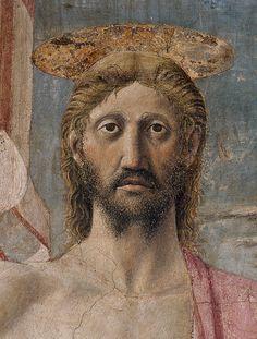 La Résurrection du Christ - Piero Della Francesca - Vers 1465 Technique Fresque,  Exposé à Sansepolcro (Italie) au Museo Civico