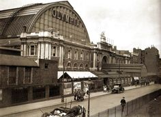 The exterior of Olympia, London,  built in 1886, pictured 1 August 1920