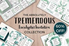 Tremendous Eucalyptus Collection by Knotted Design on @creativemarket