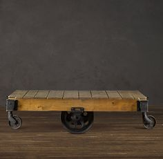 The Blissful Bee: Factory Cart Table DIY { Restoration Hardware Inspired }