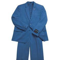 2 pc Slim Fit Suit - Blue - CLOTHING - SUITS - stacyadams.com