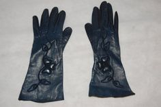Vintage Black Leather Gloves by thevintage1322 on Etsy, $15.00