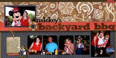 Mickey's Backyard BBQ - What a fun layout that is beautifully designed. #scrapbook #disney