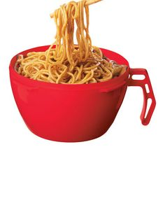 Another great find on #zulily! Red Noodle Bowl - Set of Two by Sistema #zulilyfinds