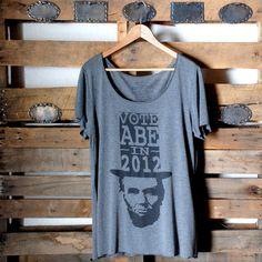 (93) Fab.com | Vote Abe 2012 Tee Women's