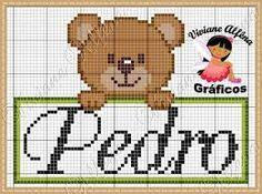 Image result for graficos ponto cruz bebe