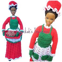 Mrs. Barbie Claus by Rebeckah's Treasures