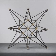A star is born. Add some unique, stylish and contemporary home dcor accessories to your place like this metal star figurine. A beautiful network of gun metal colored lines intersects to create this attractive, impactful and gorgeous star cluster.