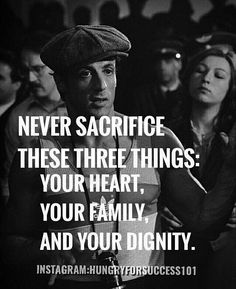 REMEMBER NEVER NEVER SACRIFICE THESE THREE THINGSYOUR HEART FAMILY AND DIGNITY. #motivational #inspirational #hungryforsuccess Checkout More: http://ift.tt/2fNnCJo