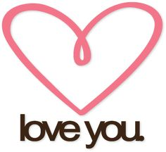 love you heart free cut file (other types too) from Kerri Bradford