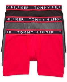 You can never have too many basic boxer briefs in your draw. Tommy Hilfiger's solid colored boxer briefs feature a traditional fit that will have you feeling comfortable all day long.   Cotton/spandex
