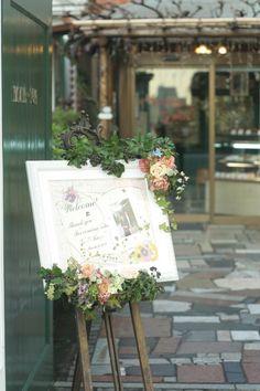 春の装花 紅茶と桜 マダム・トキ様へ : 一会 ウエディングの花
