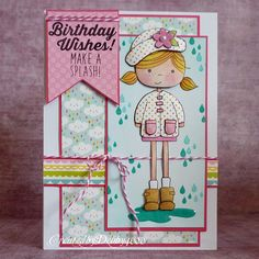Adorable card by Debby for the Simon Says Stamp Wednesday challenge (For a Special Lady/Girly)