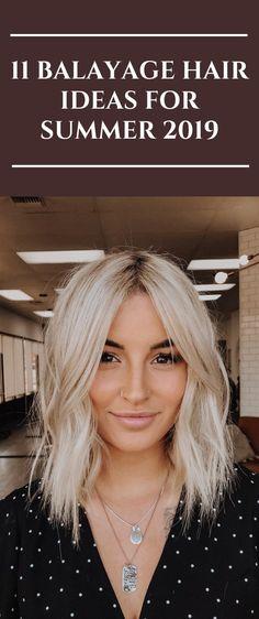 11 Balayage Hair Ideas for Summer 2019 – dark hair styles Honey Blonde Hair, Balayage Hair Blonde, Blonde Ombre, Ombre Hair, Bob Hairstyles For Thick, Summer Hairstyles, Beautiful Hairstyles, Dark Hair, Short Hair Cuts