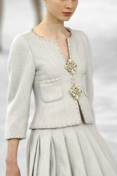 It just cannot get any more beautiful or classic than Chanel in soft shades of Gray.