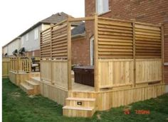 Trendy Backyard Deck With Hot Tub Privacy Screens 63 Ideas Hot Tub Deck, Hot Tub Backyard, Backyard Shade, Backyard Privacy, Backyard Fences, Pergola Patio, Pergola Kits, Pergola Ideas, Cheap Pergola