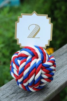 Items similar to Rope Knots - Nautical Wedding - Red White and Blue - Nautical Decor - of July - Cotton Rope Knots - (this is per knot) on Etsy Wedding Knot, Red Wedding, Seating Cards, Wedding Table Numbers, Cotton Rope, Nautical Wedding, Red White Blue, 4th Of July, Knots