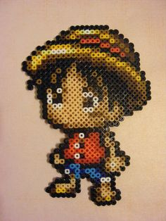 Chibi Luffy One Piece perler bead sprite by MakuTechInd on deviantart