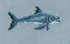 Great White Shark 4 counted cross stitch chart