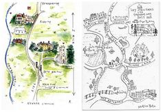Original Hand-Painted Wedding Stationery & Maps