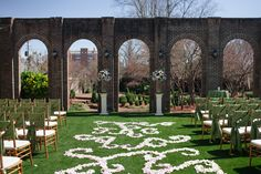 Event Date: March 28, 2015  Venue: East Ivy Mansion  Event Designer: Sarah Ann Miller  We couldn't think of a better way to kick off Spring than a beautiful outdoor wedding ceremony and reception at East Ivy Mansion. Our Director of weddings, Sarah Miller executed the most magical day for newlyweds Felice and Charlie.