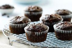 Chocolate Zucchini Muffins #healthy #desserts #recipes