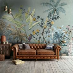Wall Mural Ideas for Living Room . Wall Mural Ideas for Living Room . Polly Wallpaper by Tecnografica Italian Wallcoverings In Most Beautiful Wallpaper, Modern Wallpaper, Designer Wallpaper, Wallpaper Jungle, Wallpaper Designs, Wallpaper Ideas, Wallpaper Murals, Kids Wallpaper, Eclectic Wallpaper