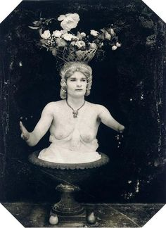 Joel Peter Witkin.   One of his tamer images.  He was a graduate student when I was in the Fine Art Photography program at UNM.  He was also maître d' at a restaurant near my house in the North Valley, where he was given to dressing in black leather, head to toe. A strange and brilliant man.     (lisa)  More?   http://en.wikipedia.org/wiki/Joel-Peter_Witkin
