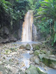 One of several walk-to waterfalls on St. Lucia, Diamond Falls draws its water from the volcano a few miles away. Its colors vary with the dominating minerals in the water.
