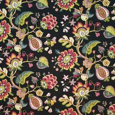Upholstery Fabric-Eaton Square Eet Pebble Floral, , hi-res