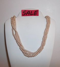 wvluckygirl.etsy.com 20 Vintage Costume Jewelry Faux Pretty In Pink Pearls