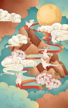 Japanese Art Modern, Japanese Drawings, Korean Art, China Art, Chinese Painting, Illustrations And Posters, Game Art, Artwork, Concept Art