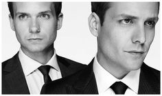 Patrick J. Adams and Gabriel Macht as Mike Ross and Harvey Specter on Suits (photographed by Nigel Parry)