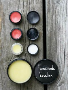 Homemade Vaseline (and tinted lip gloss!) #DIY #Beauty products. Makes a great #gift Repin to save.