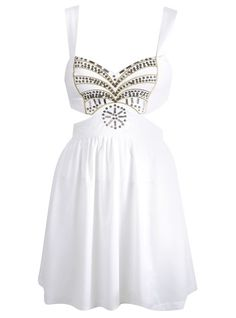 I will own this. Beaded Cut Out Dress...adorable!